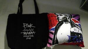 VIP PINK Beautiful Trauma World Tour 2018 Cushion Pillow And Tote Bag W/ CD