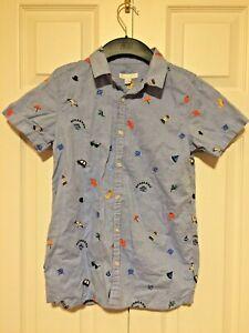 Burberry Shirt Children Boys Size 12Y 152cm Blue Kids Short sleeve Shirt