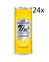 24x San benedetto Eistee Zitrone The' Limone Dose 330 ml tea the erfrischend