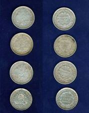 BOLIVIA   20 CENTAVOS SILVER COINS:  1878, 1886, 1888, 1890, GROUP LOT OF (4)
