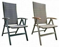 Gartenstuhl Aluminium Polyrattan Garten Hochlehner Klappstuhl Stühle TerasseNeu
