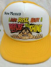 I may rise refuse to shine Cap New Mexico Tourist Mesh Trucker Snapback Hat