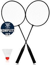 XXL Federball & Badminton Set Federballschläger in gemischten Farben + Federball