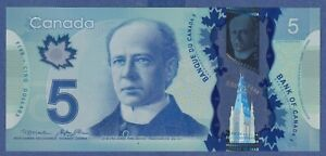 Canada $5 (2013) - UNC POLYMER NOTE ** HBY9473516 **  YSL24