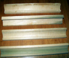 4 Wooden Scrabble Tile Racks NAME Holders GAME REPLACEMENT PARTS Crafts