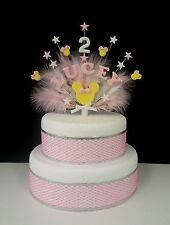 Personalizzata Minnie Mouse Stile compleanno cake topper, Qualsiasi Nome ed Età