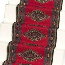 Melody Jane Dollhouse Woven Stair Carpet Runner Red 1 12 Miniature Flooring