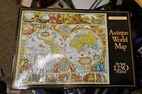 Waddingtons Antique World Map De-luxe 1250 Pieces Jigsaw Puzzle Vintage 1990
