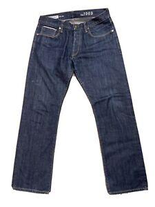 Gap 1969 Authentic Straight Selvedge Denim Men's Size 32 x 30 NEW
