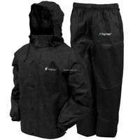 NEW! Frogg Toggs Men's All Sports Rain and Wind Suit, Black, Large AS1310-01LG