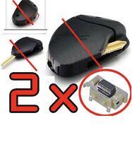 2 SWITCH Bouton PLIP Télécommande clé 806 Citroen Xsara Xantia Xm RF Evasion