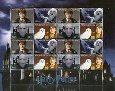 Harry Potter Stamps 2017 MNH Lord Voldemort Dumbledore Owls 16v M/S II