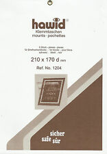 HAWID STAMP MOUNTS Block Size 210 x 170mm BLACK Pack of 5   - Ref. No.1204