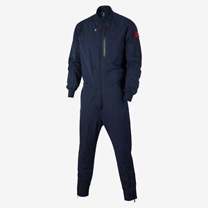 Nike France National Soccer Team Jumpsuit Mens XL Obsidian CI8337 475 NWOT