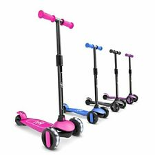 6Ku 3 Wheels Kick Scooter for Kids and Toddlers Girls & Boys, Adjustable Height,