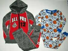 Boys Sz 5/6 Clothes Lot Red Blue Football Sports Pants Outfit Pajamas Jacket
