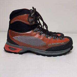 Mens La Sportiva Trango TRK GTX Sz 9 Black Red Mountaineering Trail Hiking Boots