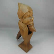 Holz Nussknacker - H: ca. 23,3 cm - Handgeschnitzt - Kopf - Fratze -