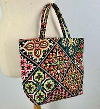 1960s Vintage Margaret Smith Purse Gardner Maine Floral Fabric Handbag