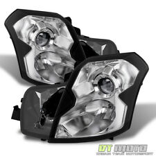 Chrome Housing 2003-2007 Cadillac CTS CT-S Headlights Headlamps 03-07 Left+Right