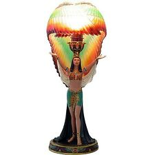 Egyptian Decor Goddess Winged Isis Colorful Table Lamp Ancient Egypt Deco #11687
