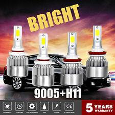 9005+H11 Combo LED Headlight Kit Low High Beam 3000W 450000LM Light Bulbs 6000K