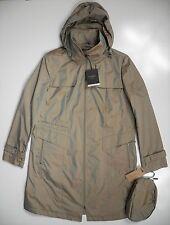 COLE HAAN NEW YORK NWT WOMENS XL RAIN JACKET TRENCH COAT BEIGE GOLD SHEEN LUXURY