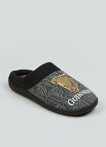 Mens Black Guinness Mule Slippers  Shoe Size 7-12