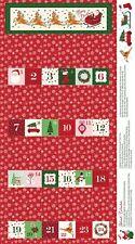 Merry and Bright Advent Calendar Panel - Red - Riley Blake - Santa