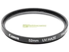 52mm. Filtro UV Haze originale Canon. Ultra violet filter.
