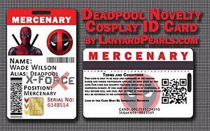 Deadpool Novelty Cosplay ID Badge Card - Mercenary - Fully CUSTOMISABLE!