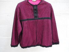 Unique Neiman Marcus Pink Top with Black Netting