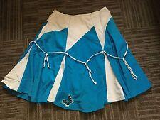 Tailored Girls Womens Full Skirt 2 4 Blue White Trim Handmade Custom Side Zip
