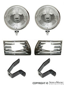 Driving Light & Chrome Grille Set, Porsche 911/912 (69-73), 901.631.122.02