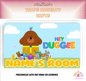 Hey Duggee children's Bedroom personalised door plaque kids perfect gift