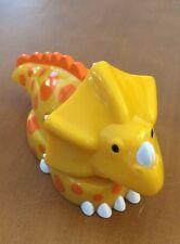 "Mega Bloks 3 Piece Orange and Yellow Dinosaur 6"""
