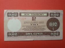 4. Poland - Bon towarowy Pekao 0,02$ - 1979