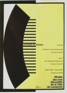 Original vintage poster COMB DESIGN IN HISTORY EXPO 1991