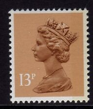 GB 1988 Machin Definitive 13p pale chestnut SG x1006 (1 band right) MNH