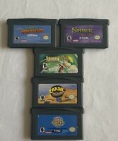 Gameboy Advance Rayman, Super Monkey Ball Jr, Crash Nitro Kart, 2 Shrek Games!