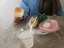 AG Doll Miniature Ham and Green Bean Dinner with Drink