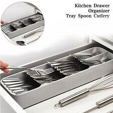 Kitchen Drawer Organizer Tray Spoon Cutlery Divider Forks Chopsticks Storage Box