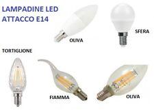LAMPADINA LED E14 da 4W a 7W PHILIPS WIVA Lampada Sfera Oliva Tortiglione Fiamma