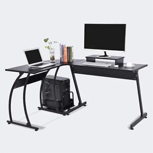 L-Shaped Computer Desk Home Office Corner PC Gaming Desk Table Large 147x112 CM