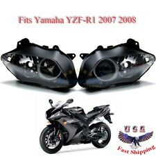 Left Right Headlight Headlamp Assembly Housing For Yamaha YZF-R1 2007 2008 07 08