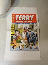 Terry and the Pirates #19 Cover Art original cover proof 1949 w/Invoice, Hotshot