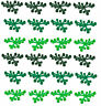 ☀️ 24x NEW LEGO 6 X 5 Leaves Green Mix Leafs Plants Garden Trees Bright Greenery