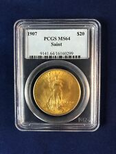$20 US Gold Double Eagle, St. Gaudens.  1907, PCGS MS64.  Great Investment Coin!
