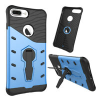 PC +TPU Shockproof Protection Back Phone Case Cover with Stand for iPhone