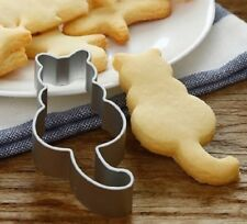 STAINLESS STEEL CAT BISCUIT CUTTER CAKE DECORATOR MOULD COOKIE TOOL MAKER SHAPER